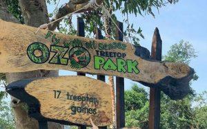 Bảng chỉ dẫn vào công viên ozo