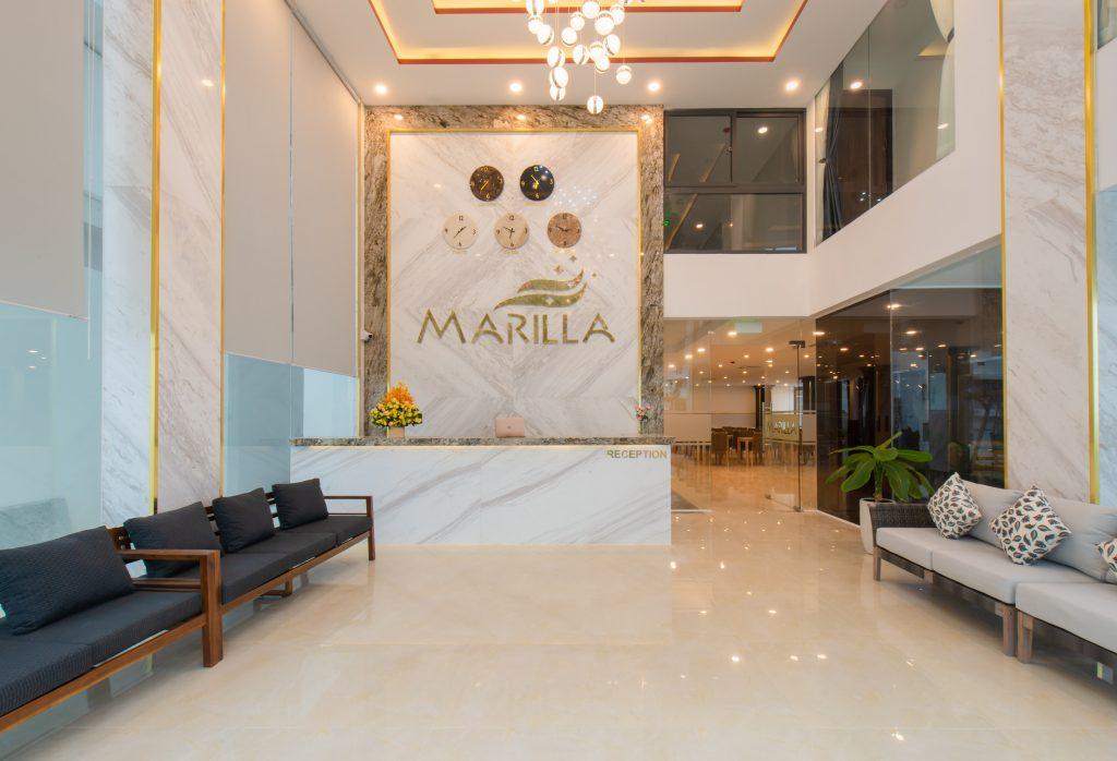 sảnh lễ tân khách sạn Marilla