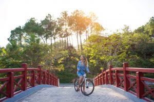 đạp xe sankofa village hill resort & spa