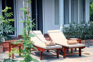 ghế tắm nắng cottage room chày lập homestay & resort