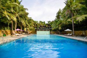 hồ bơi sankofa village hill resort & spa