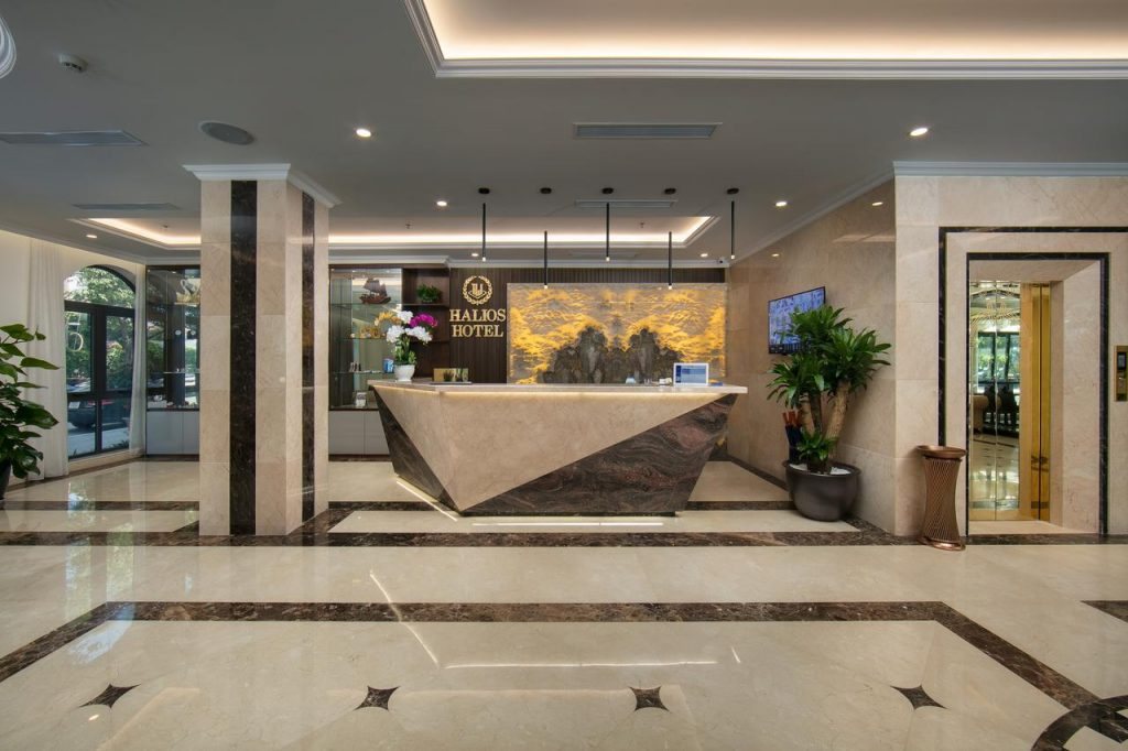 sảnh khách sạn halios hạ long