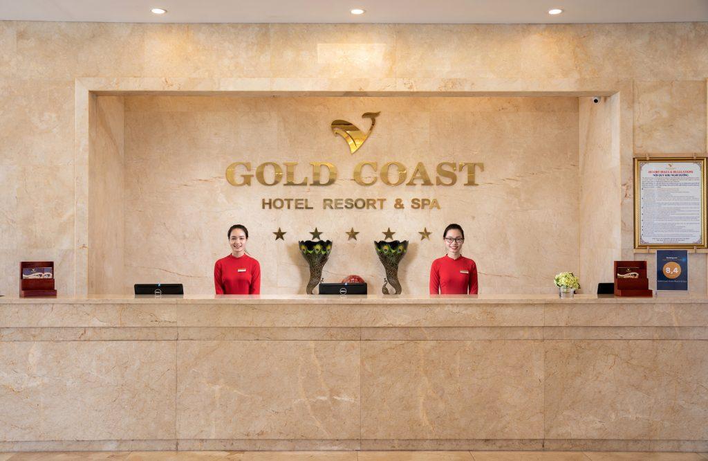 lễ tân gold coast hotel resort & spa