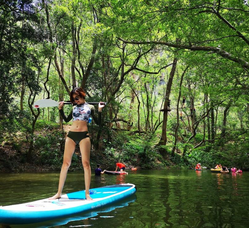 chèo thuyền sup - công viên ozo